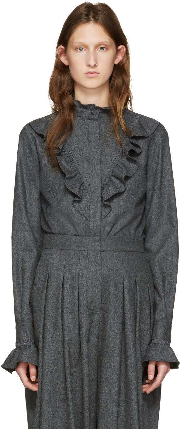 Stella Mccartney Grey Wool Clara Shirt