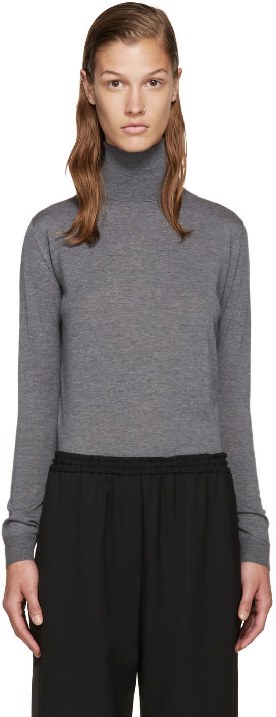 Stella Mccartney Grey Wool Turtleneck