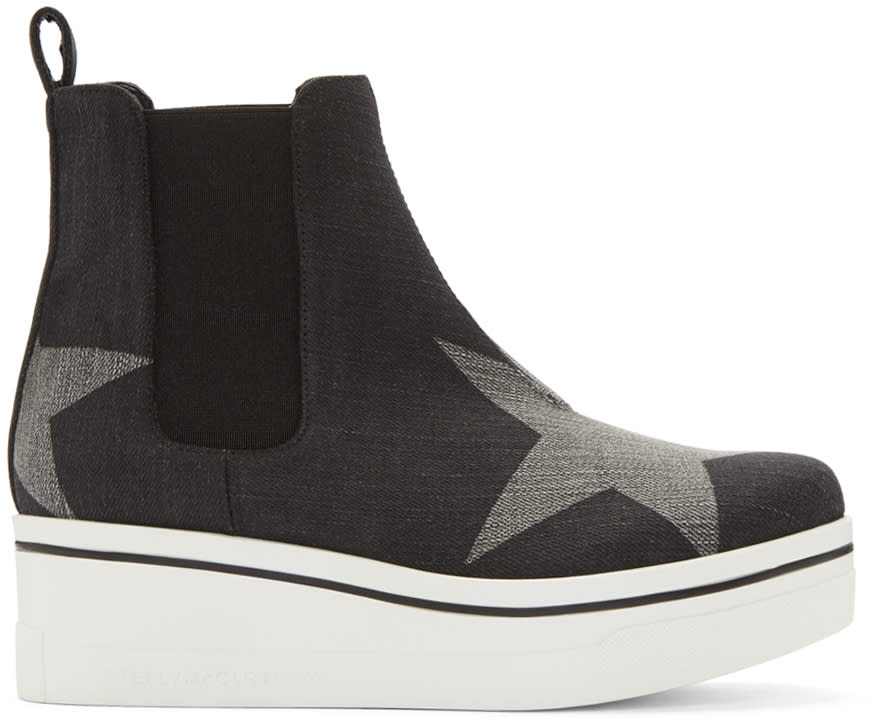 Stella Mccartney Black Binx High-top Sneakers