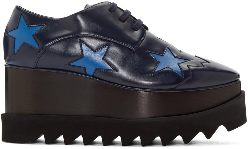 Stella Mccartney Navy Elyse Star Derbys