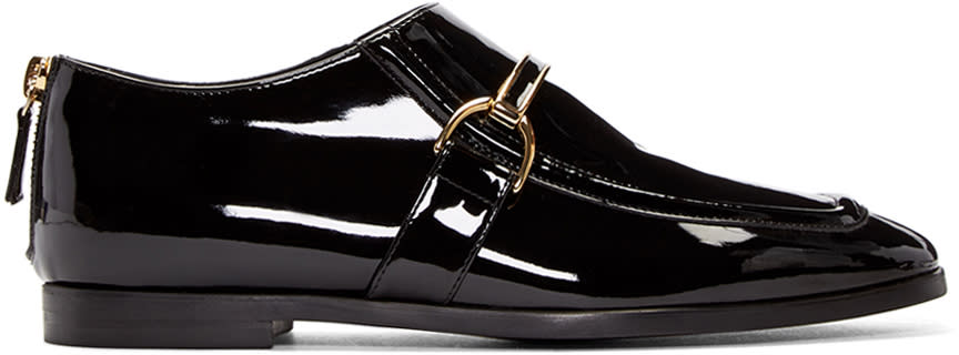 Stella Mccartney Black Patent Buckle Loafers