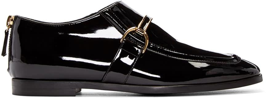 Stella Mccartney Black Patent Buckle Loafers