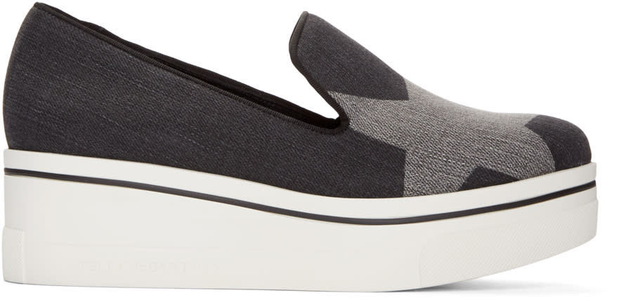Stella Mccartney Black Denim Binx Loafers