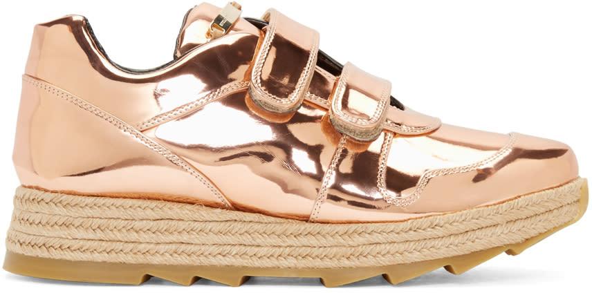 Stella Mccartney Copper Velcro Macy Sneakers