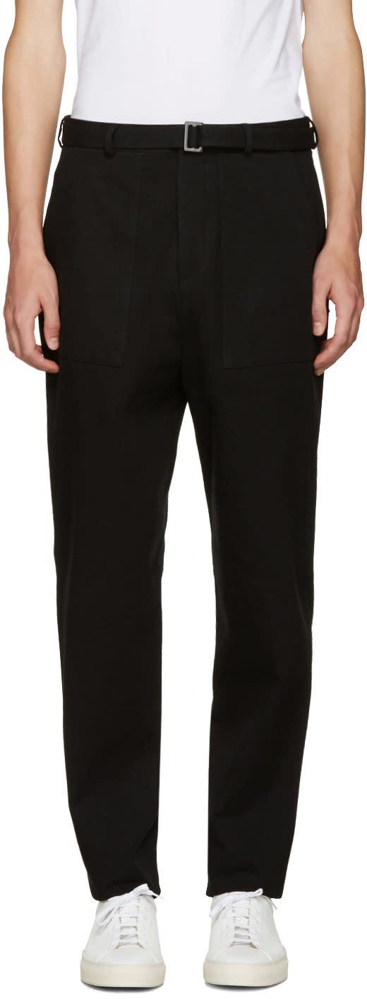 Umit Benan Black Belted Trousers