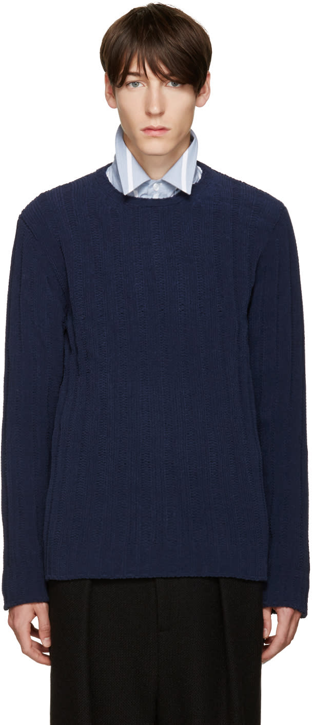 Umit Benan Blue Knit Sweater