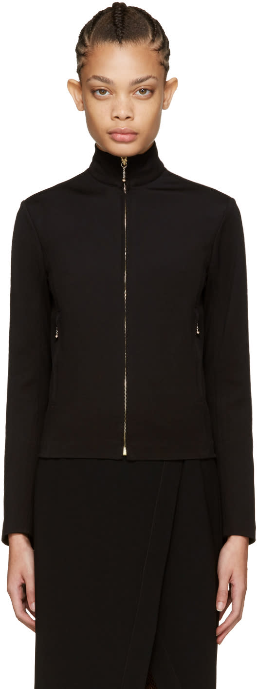 Nina Ricci Black Zip-front Sweater