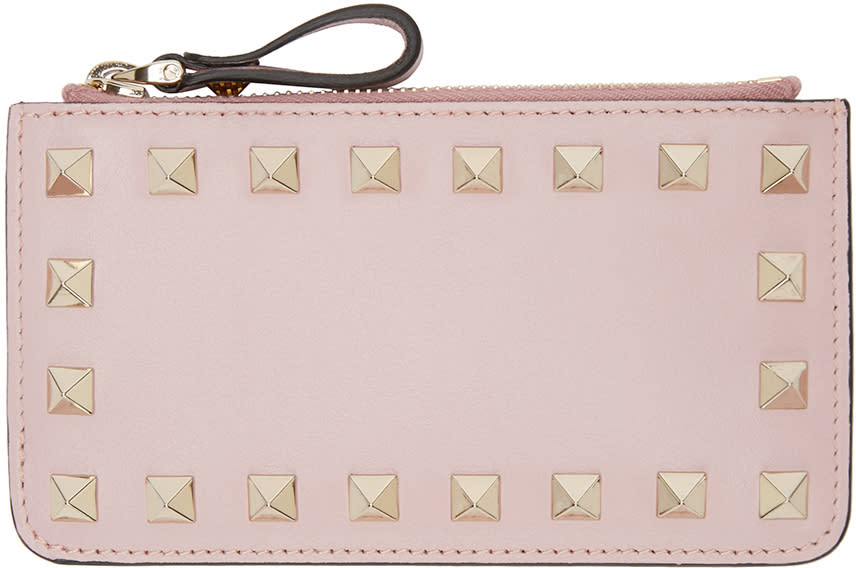 Valentino Pink Rockstud Coin Pouch