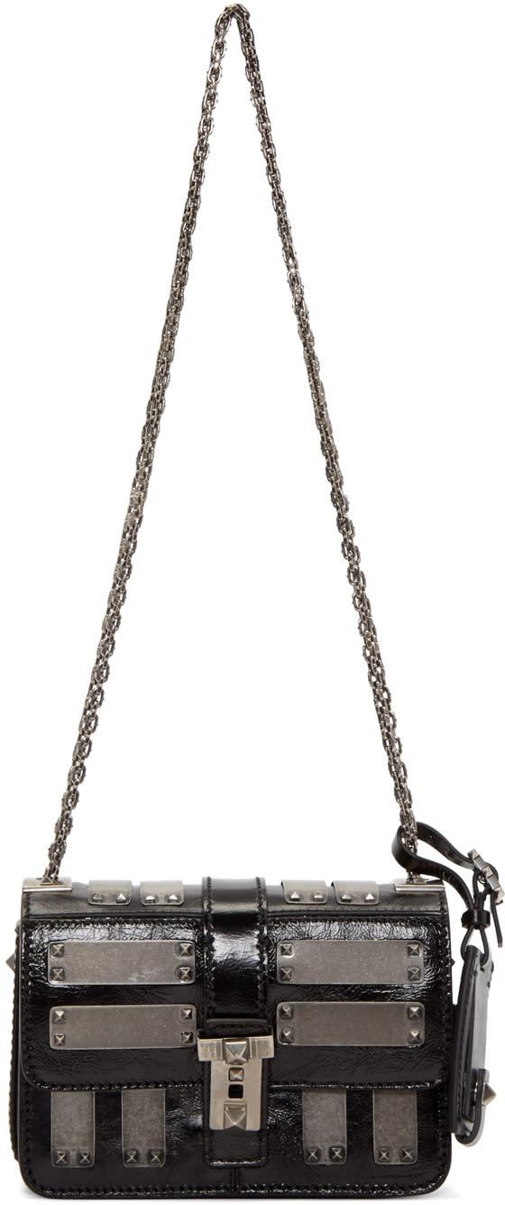 Valentino Black Micro-b Rockstud Bag