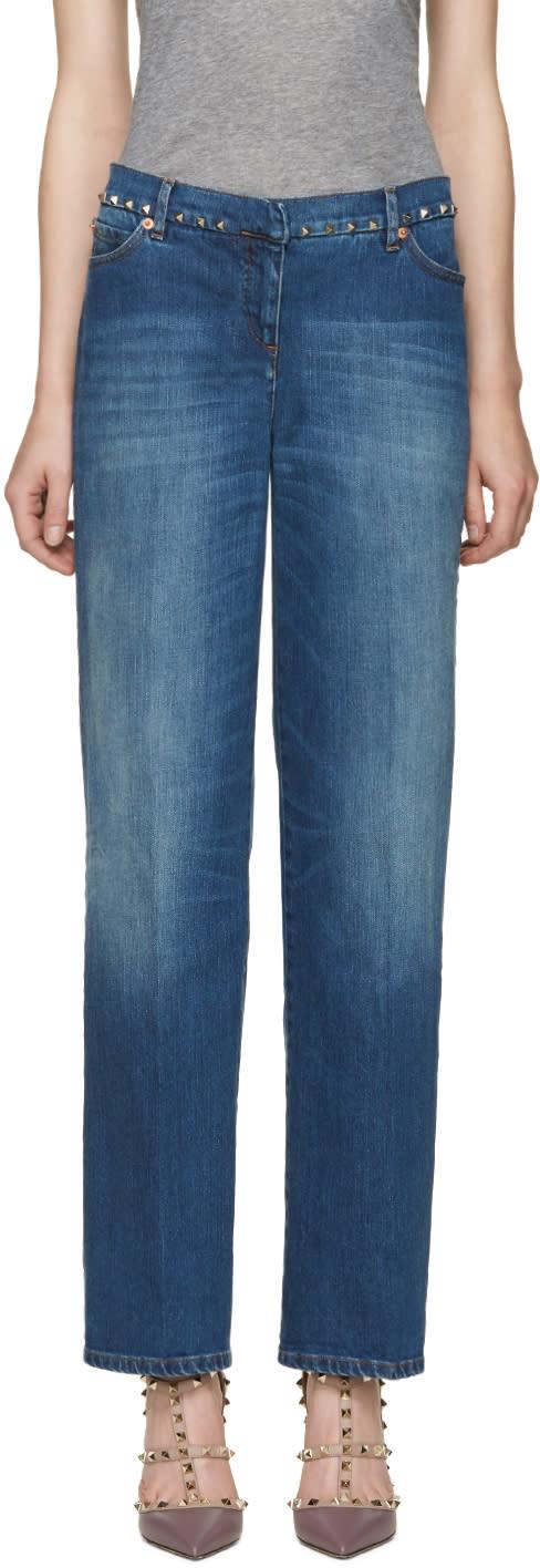 Valentino Indigo Rockstud Untitled Jeans