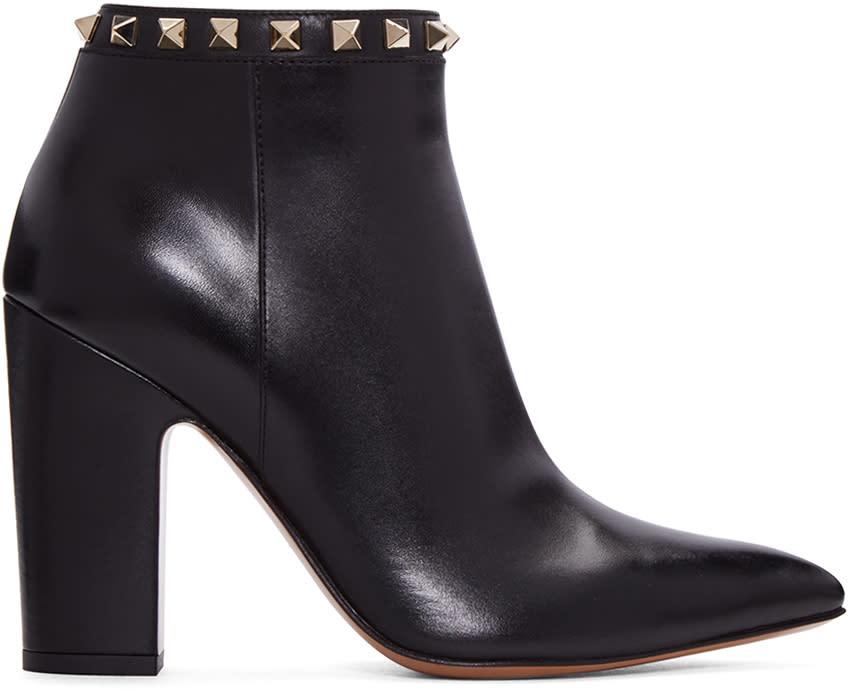 ValentinoBlack Valentino Garavani  Rockstud Ankle Boots