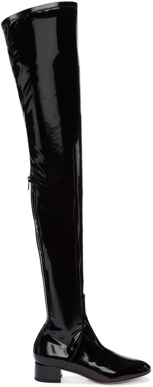 Valentino Black Patent Tall Boots