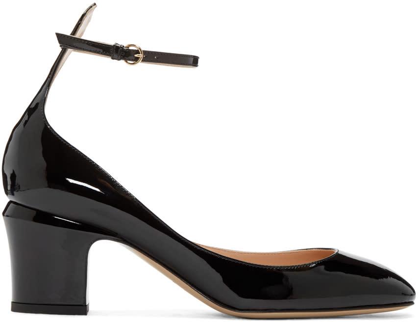Valentino Black Patent Mary Jane Heels
