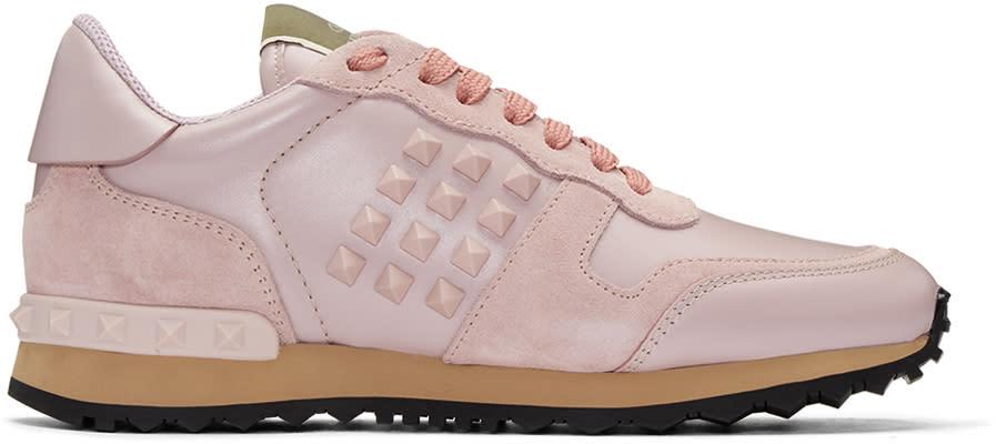 Valentino Pink Rockstud Sneakers