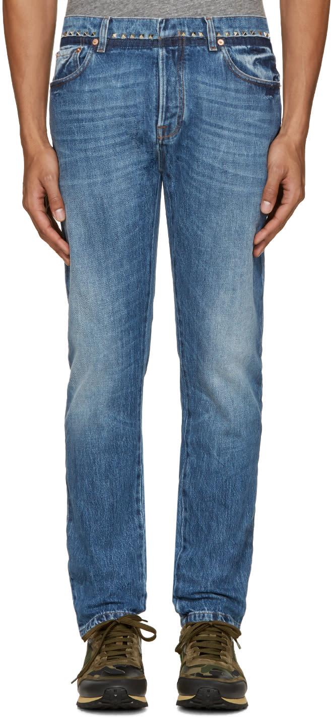 Valentino Indigo Studded Jeans