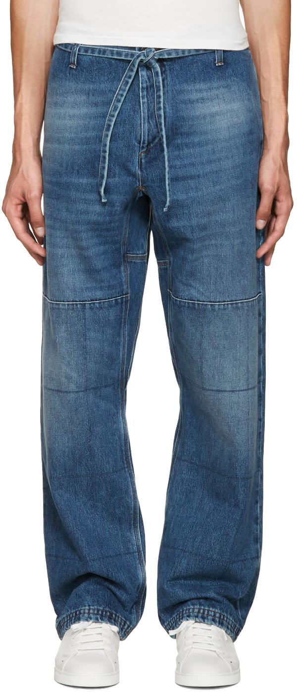 Valentino Blue Wide-leg Jeans
