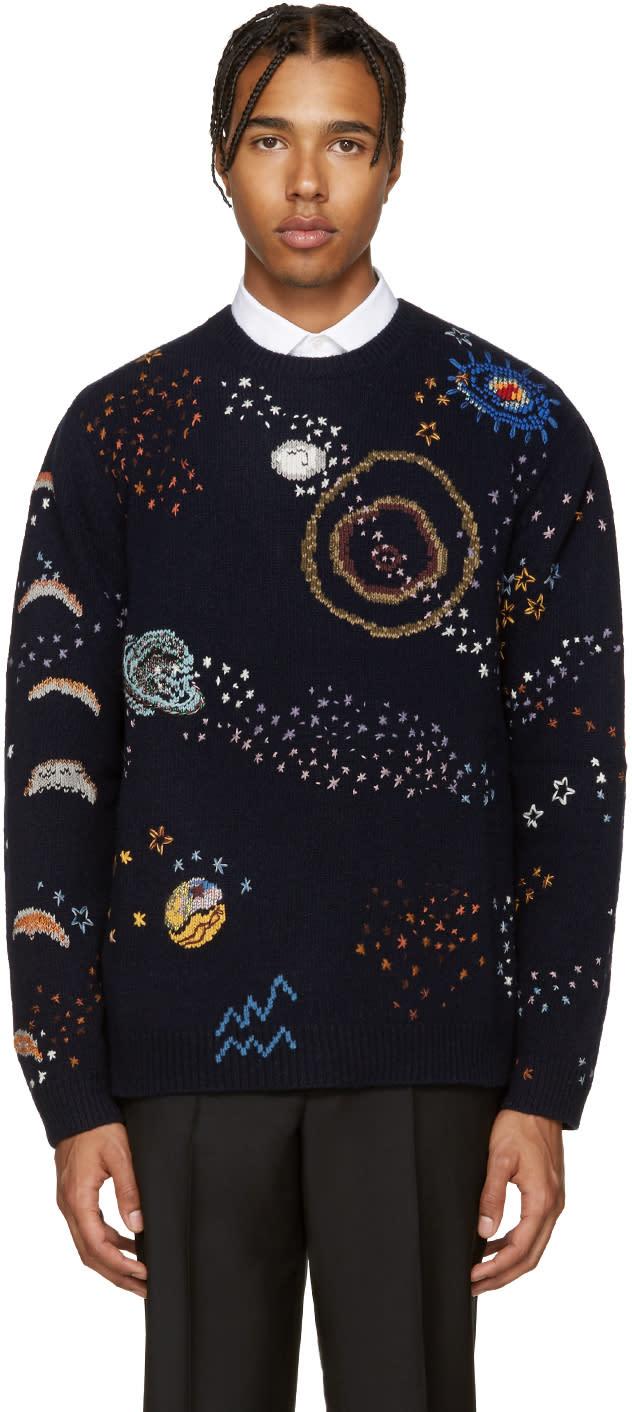 Valentino Navy Constellations Sweater