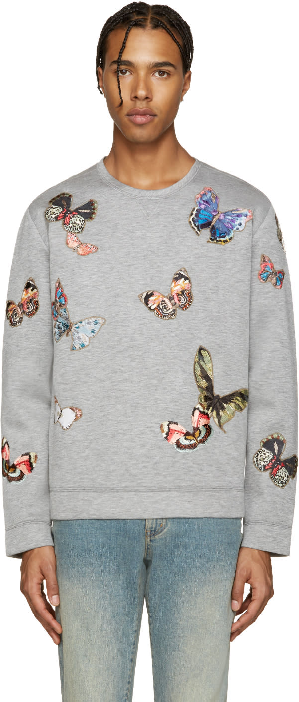 Valentino Grey Butterfly Pullover