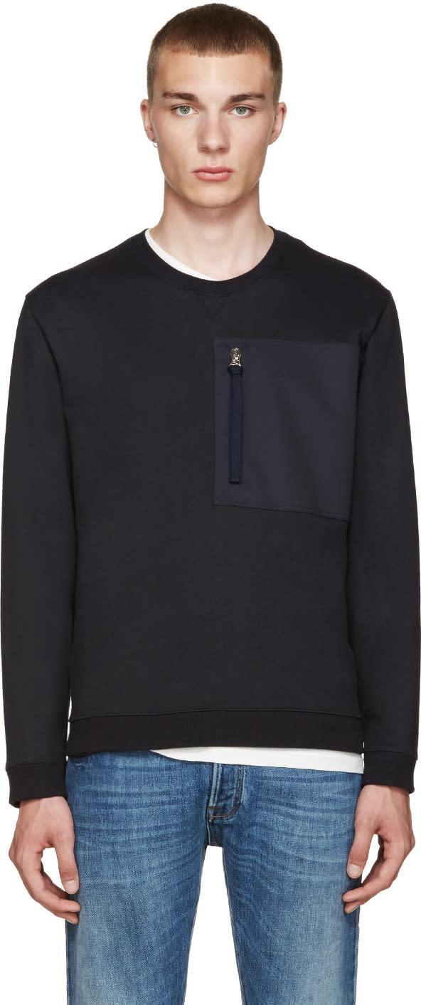 Valentino Blue Zip Pocket Pullover