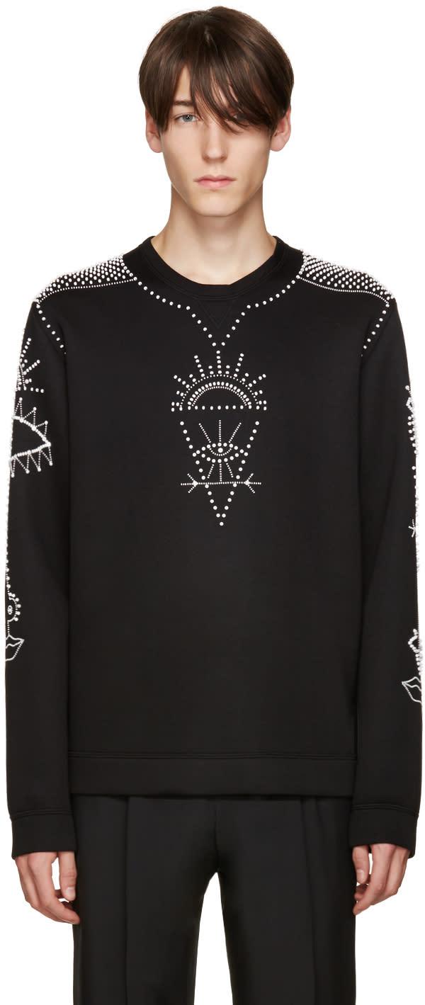 Valentino Black Beaded Pullover
