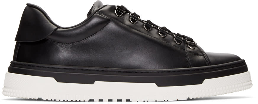 Valentino Black Leather Hiking Sneakers