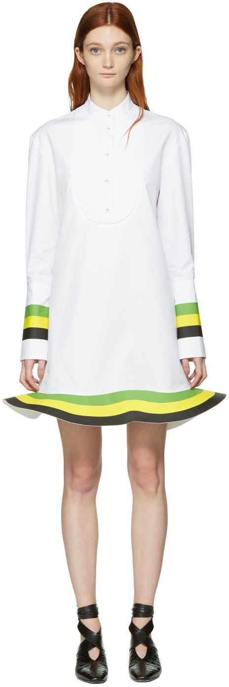 J.w. Anderson White Orbit Hem Tuxedo Dress