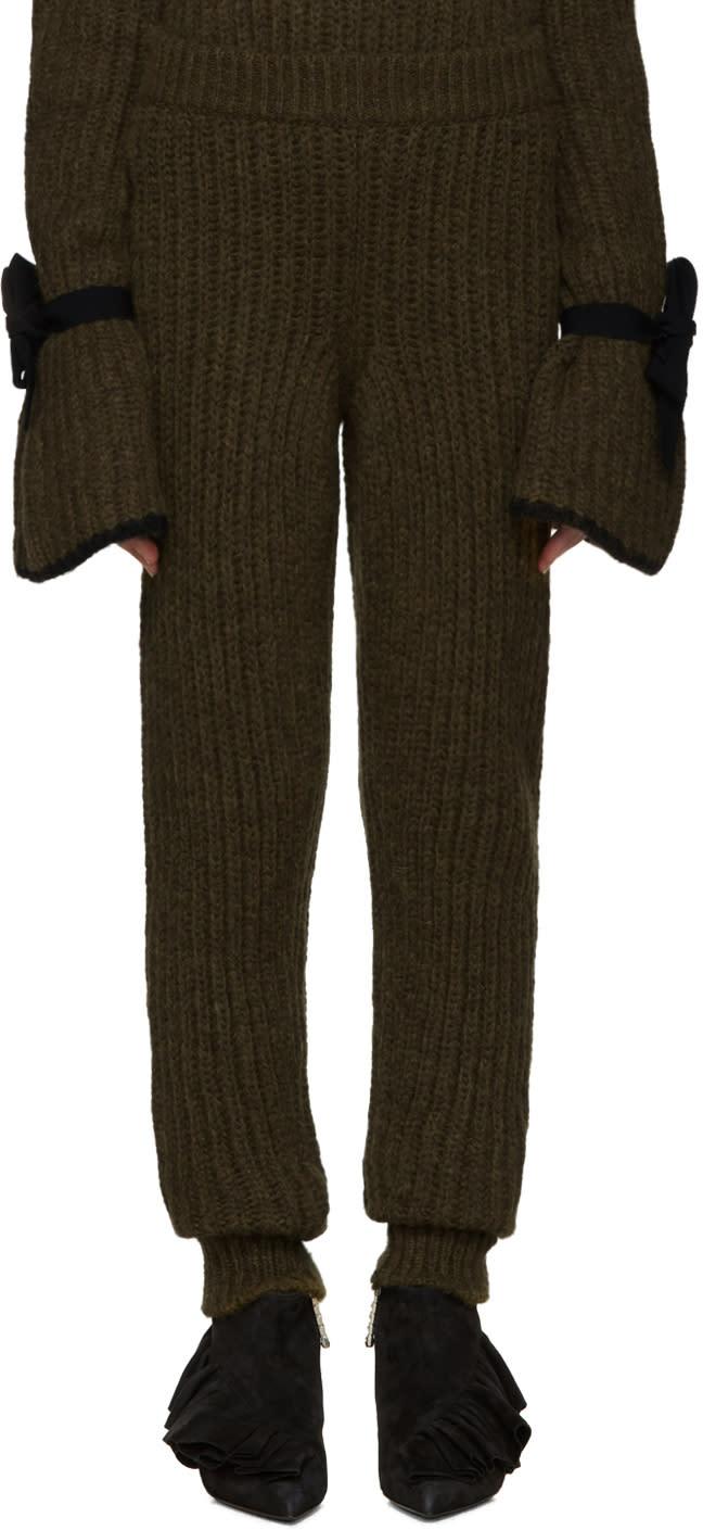 J.w. Anderson Green Knit Lounge Pants