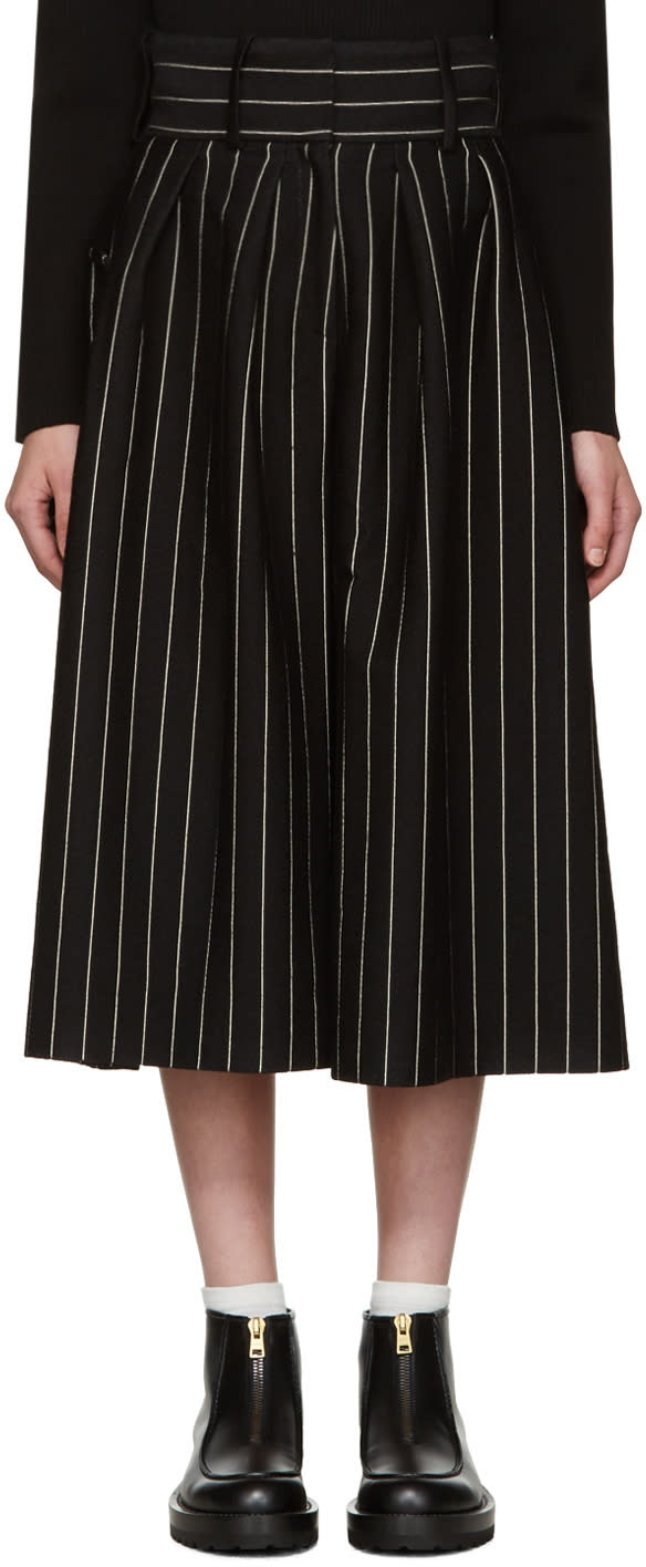 J.w. Anderson Black Pleat Front Culottes