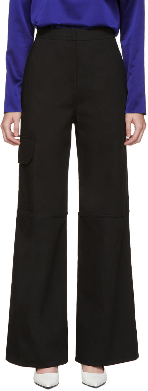 J.w. Anderson Black Wide-leg Trousers