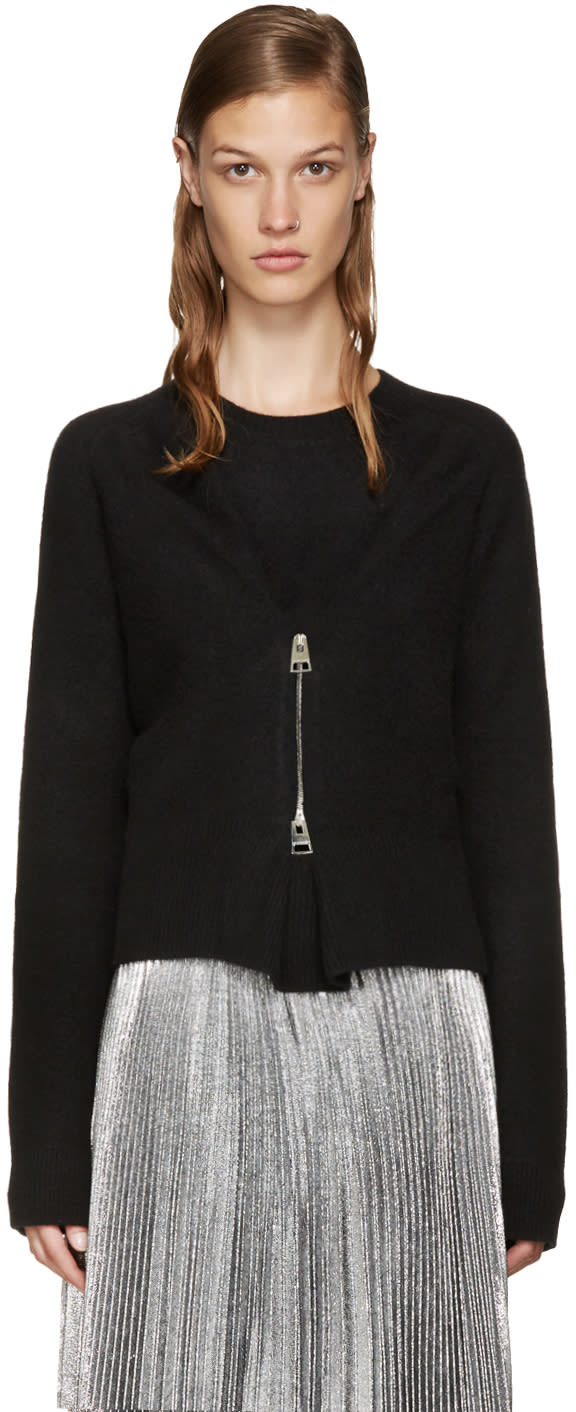 J.w. Anderson Black Zip-front Sweater