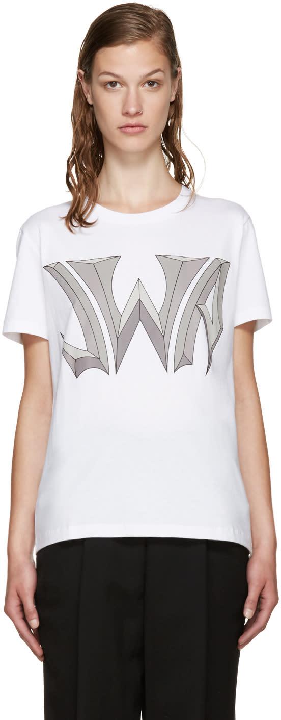 J.w. Anderson White Logo T-shirt