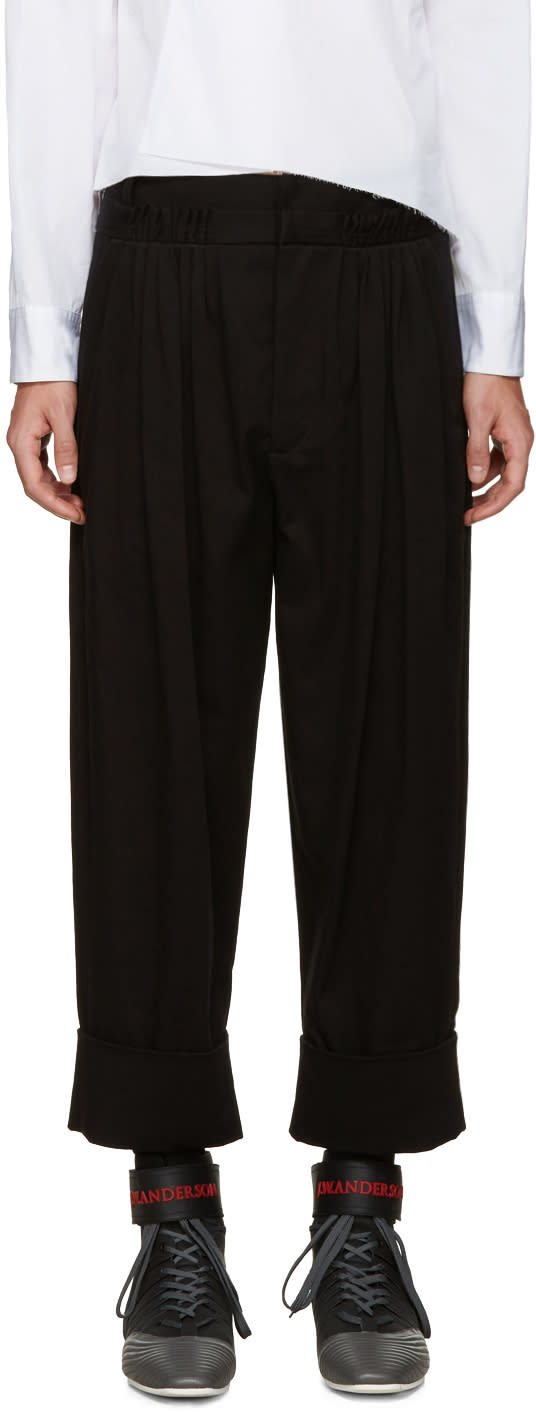 J.w. Anderson Black Twill Baggy Trousers