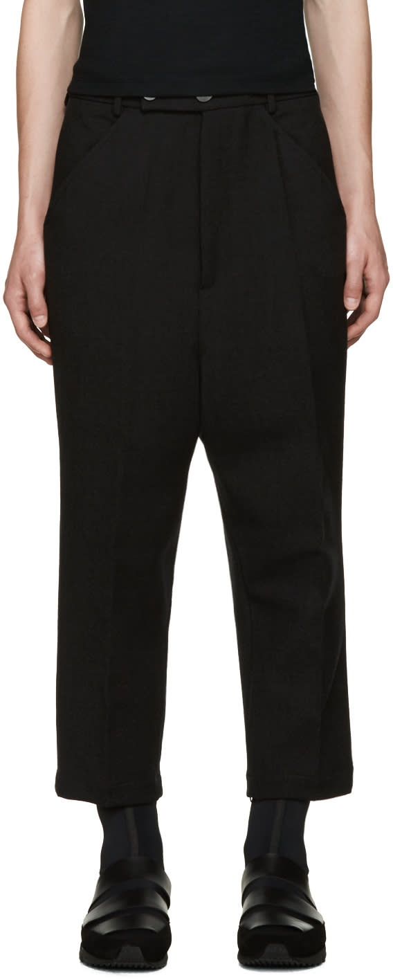Thamanyah Black Wool Trousers