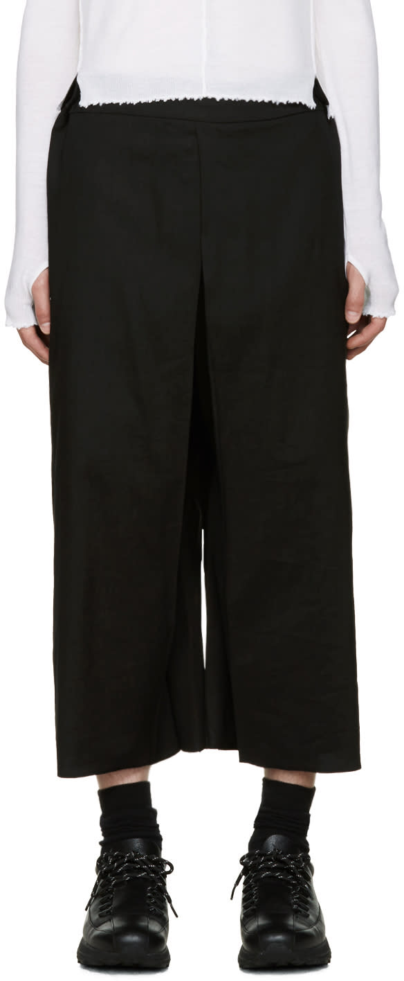 Thamanyah Black Wide-leg Trousers