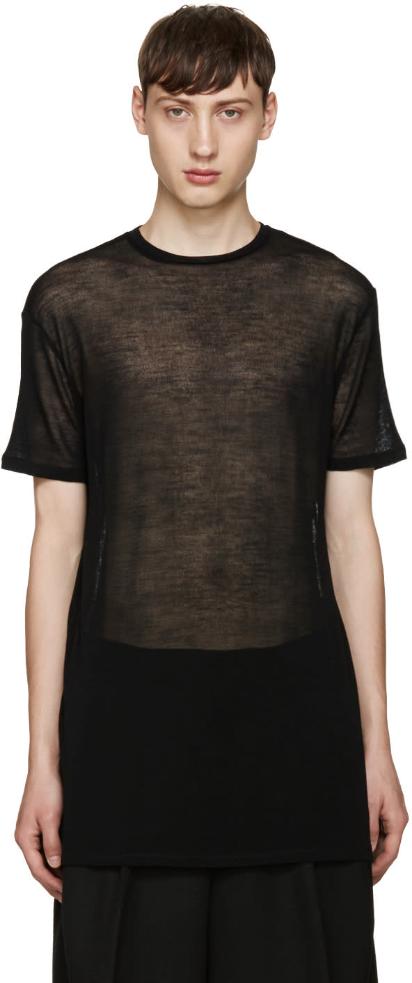 Thamanyah Black Sheer T-shirt