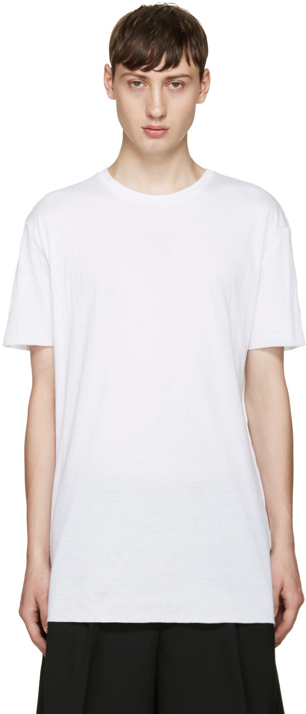 Thamanyah White Cotton T-shirt