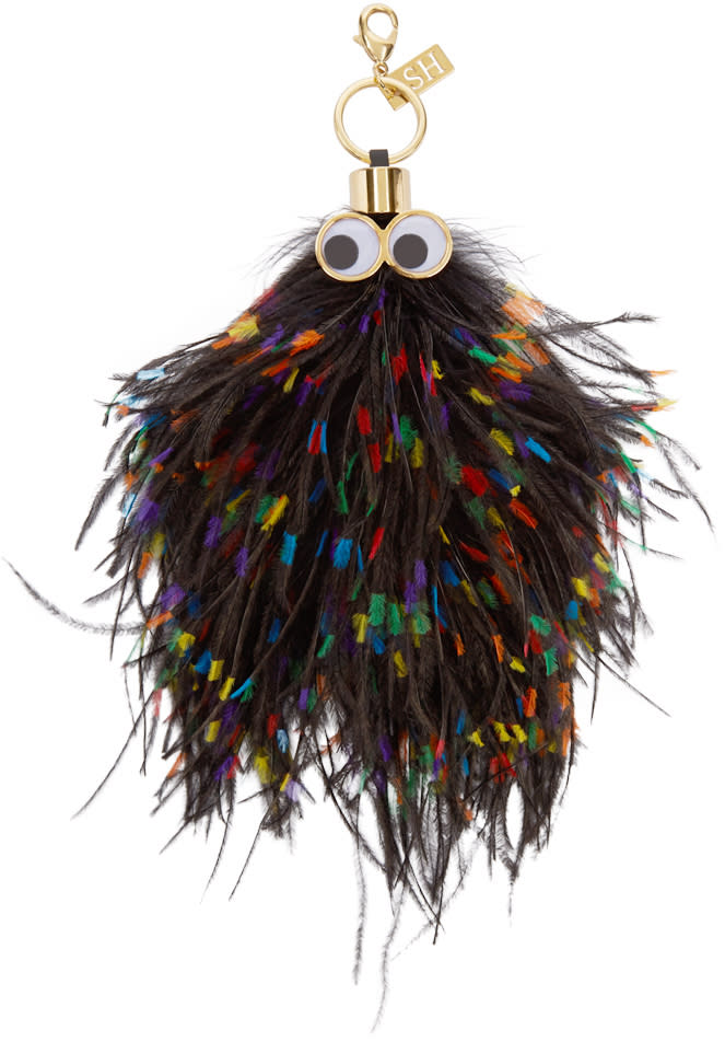 Sophie Hulme Multicolor Ostrich Feather George Keyring