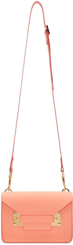 Sophie Hulme Ssense Exclusive Pink Mini Milner Envelope Bag