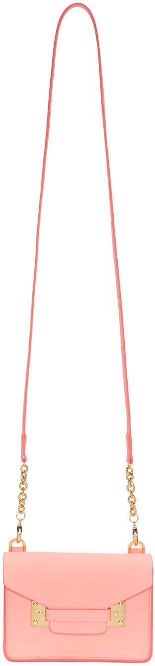 Sophie Hulme Pink Nano Milner Shoulder Bag