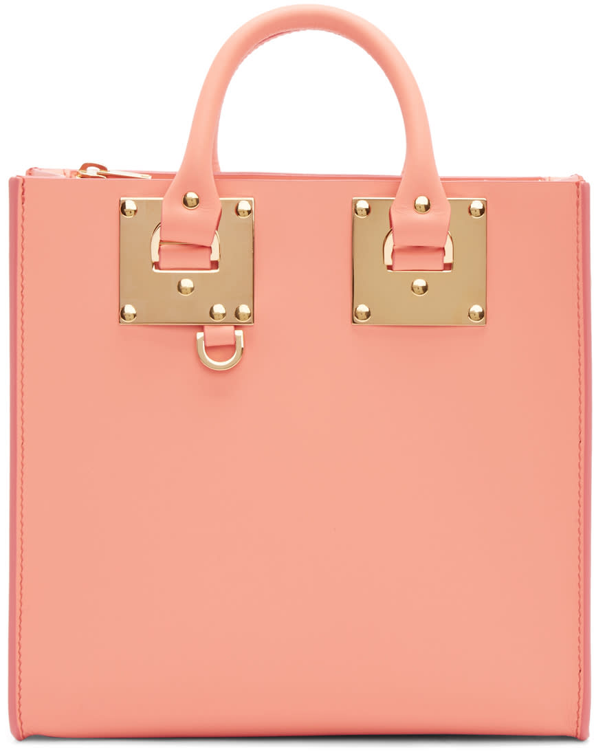 Sophie Hulme Ssense Exclusive Pink Square Albion Tote