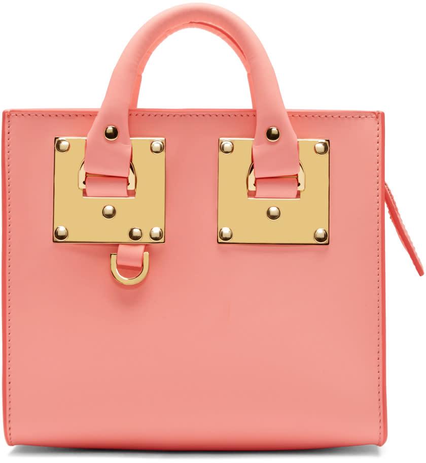Sophie Hulme Pink Mini Albion Box Tote