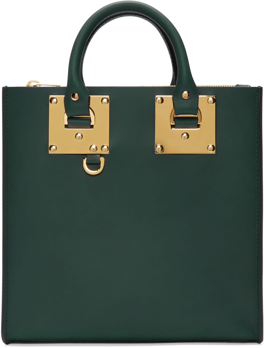 Sophie Hulme Green Square Albion Tote