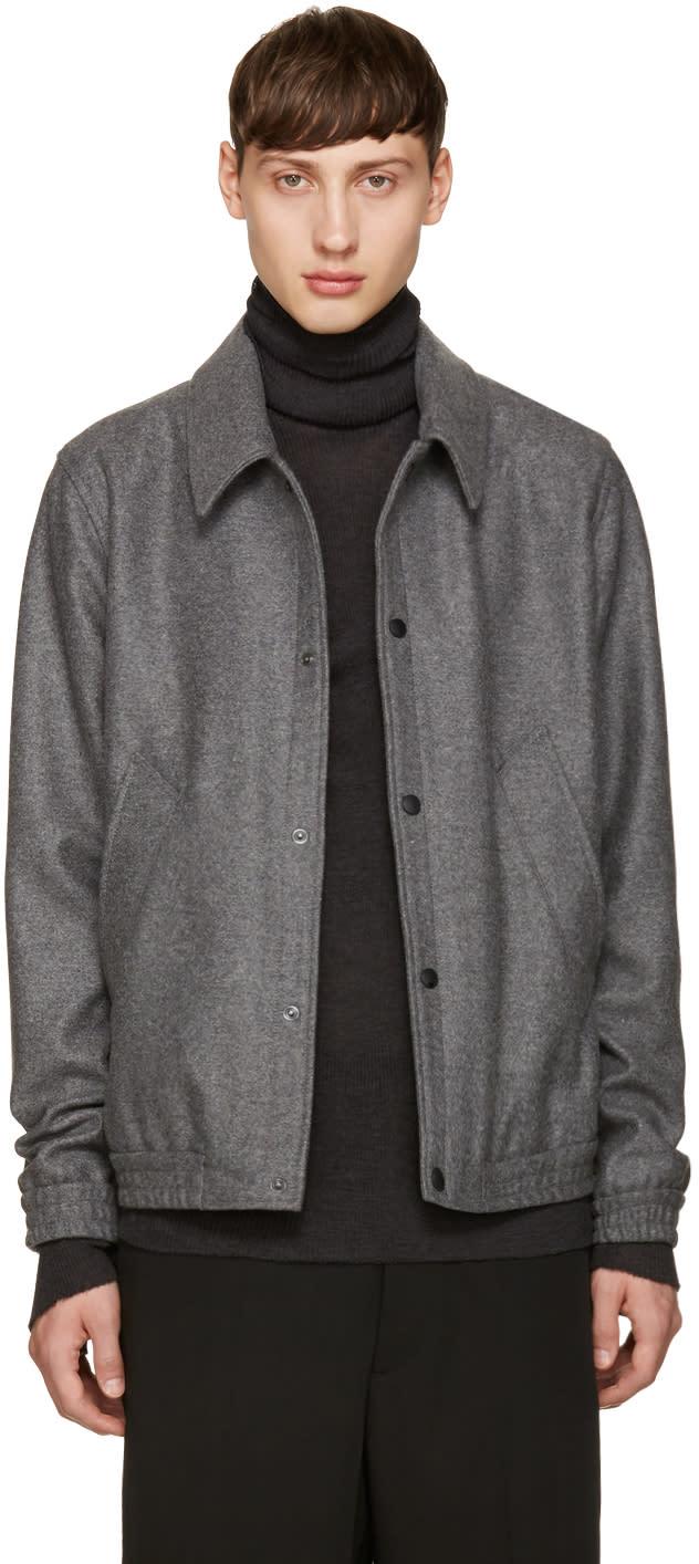 Ami Alexandre Mattiussi Grey Wool Jacket