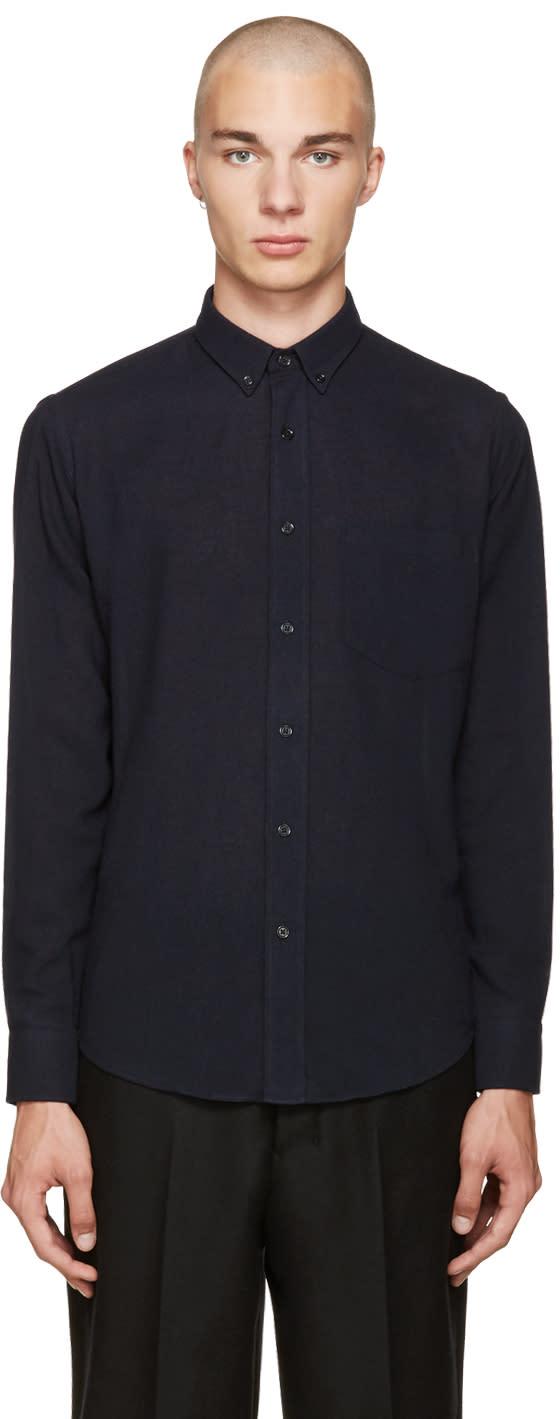 Ami Alexandre Mattiussi Navy Summer Fit Shirt