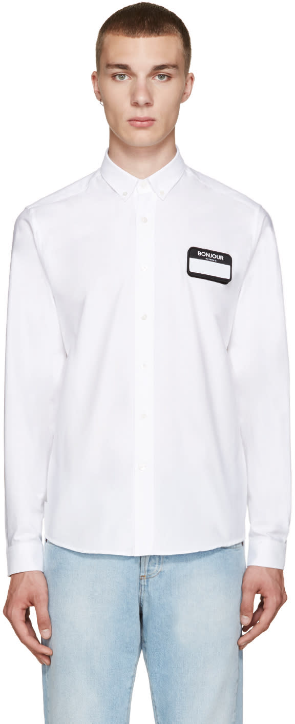 Ami Alexandre Mattiussi White Name Tag Patch Shirt