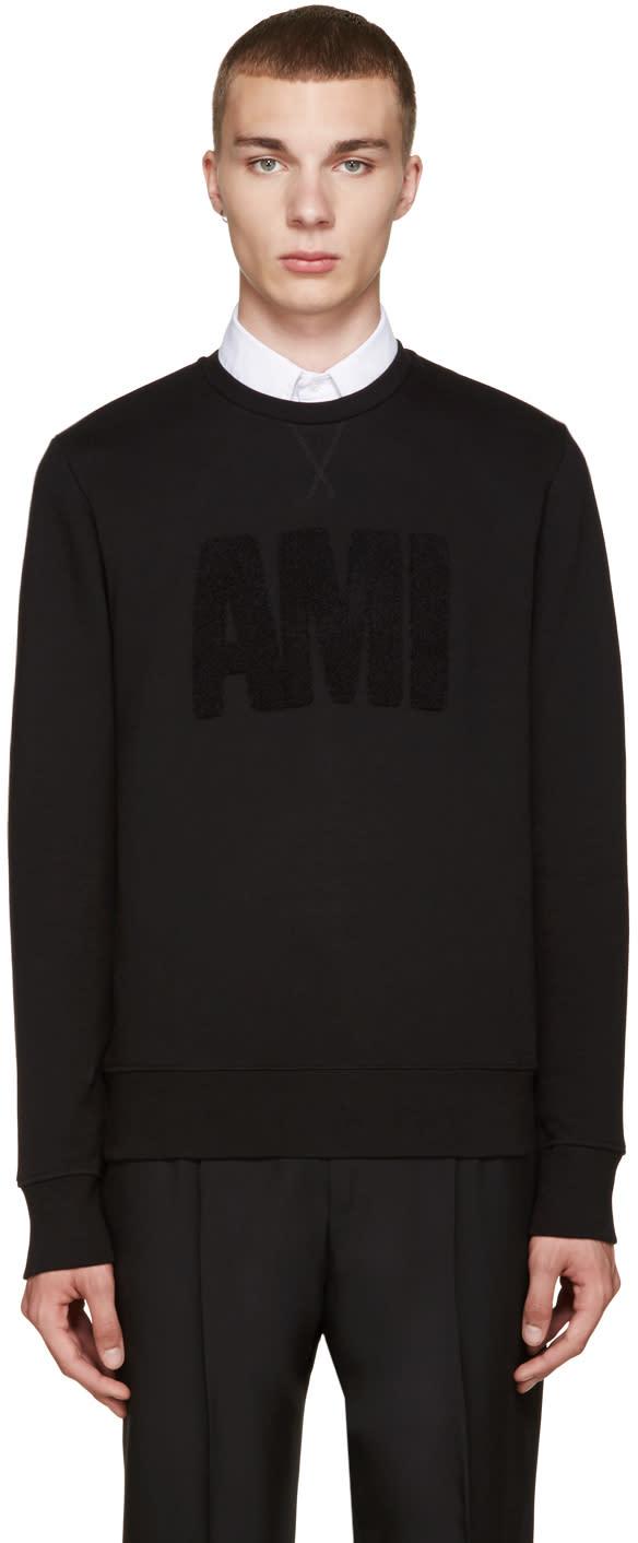 Ami Alexandre Mattiussi Black Logo Sweatshirt