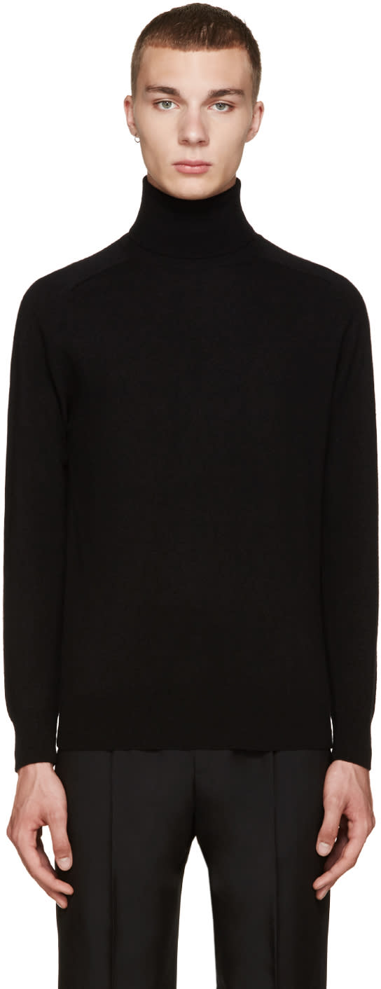 Ami Alexandre Mattiussi Black Wool Turtleneck Sweater