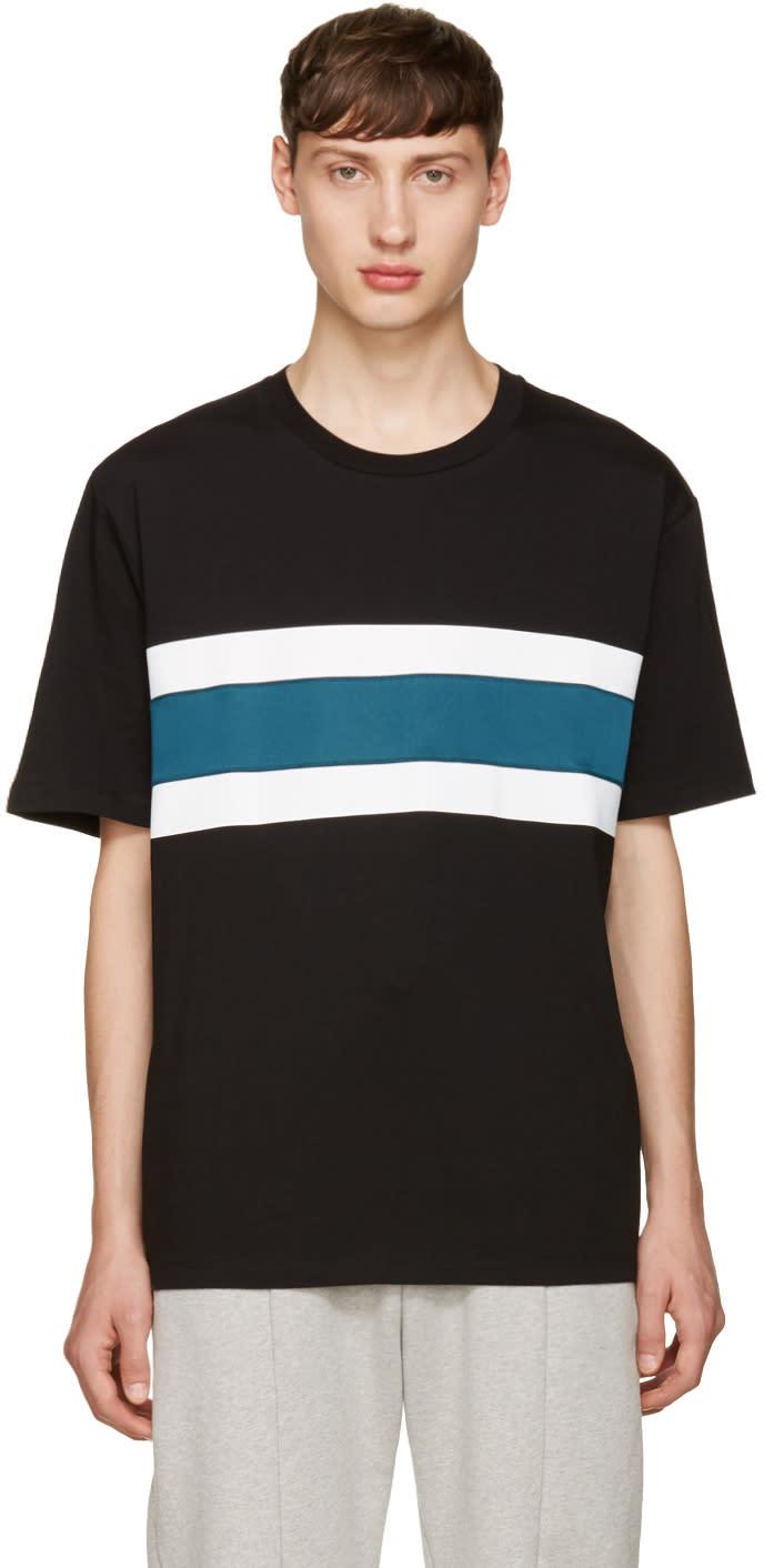 Ami Alexandre Mattiussi Black Panelled Stripe T-shirt