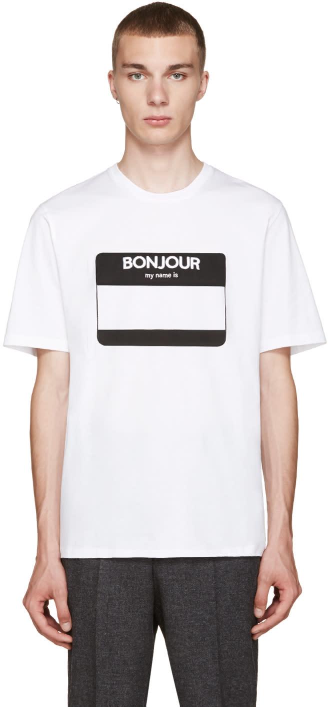 Ami Alexandre Mattiussi White Name Tag T-shirt