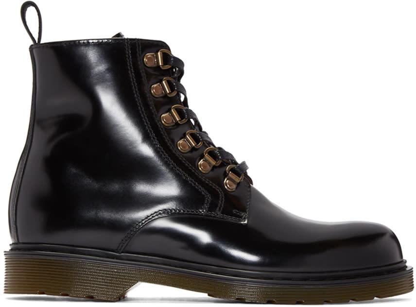 Ami Alexandre Mattiussi Black Lace-up Boots